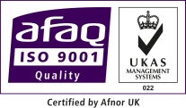ISO9001:2008 Approved by Afnor UK